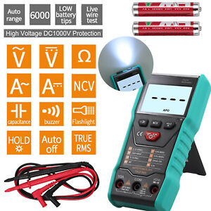 Digital Multimeter True Rms 6000 Counts Fully Auto Range Kit With Pair Test Lead
