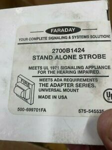New Faraday 2700b1424 Strobe 6 Available Free Ship n No Longer Available