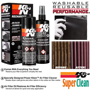 K N 99 5000 Air Filter Cleaning Care Service Kit W Oil Cleaner Spray Bottle