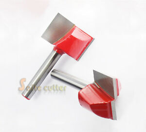 2pcs Cnc Router Endmill Bottom Cleaning Woodworking Milling Bits Shk 6mm 22mm