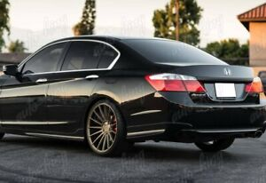 For 2013 2015 Honda Accord 4dr Hfp Style Painted Black Rear Bumper Spoiler Lip