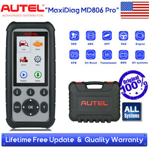 Us Autel Md806 Pro Full System Diagnostic Obd2 Auto Car Code Reader Scanner Tool
