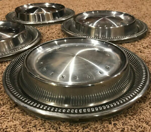 Set Of 4 Original Plymouth Division Mopar 15 Hub Caps Classic Antique Vintage