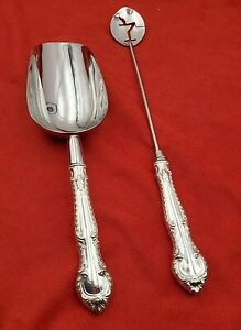 English Gadroon By Gorham Bar Sterling Ice Scoop And Martini Spoon Custom Made