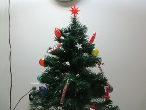 Fiber Optic Tree Merry Christmas Base 32quot; T NOEL Candles Candy Cane Ornamenents