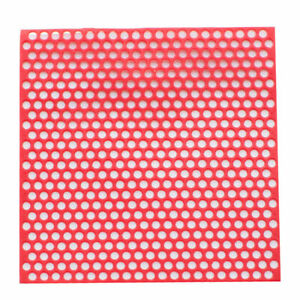 10 Sheets box Dental Lab Supplies Round Hole Red Patterns Wax Casting Sale Best