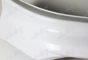 Hfp style Painted White Front Bumper Spoiler Lip 2pc For 14 15 Honda Civic Coupe