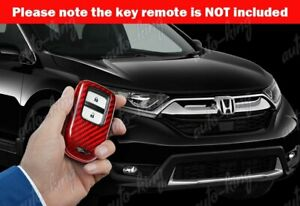 Real Red Carbon Fiber Remote Key Shell Cover For Honda Accord civic fit odyssey