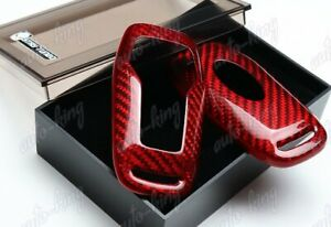 Real Red Carbon Fiber Remote Key Shell Cover For Ford Mustang Edge F150 Fusion