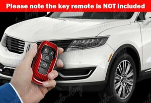100 Real Red Carbon Fiber Remote Key Shell Cover Case For Lincoln Mkc Mkx Mkz