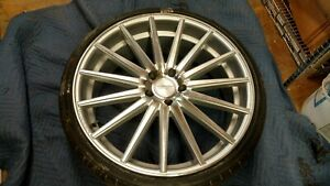 Vossen Vff 2 Lug Pattern 5x120 Wheel Is 22x9 With New Tire Free Shipping