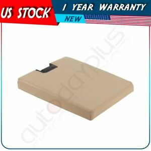For 2007 2012 Chevy Silverado Gmc Sierra Center Console Lid Armrest Cover Beige