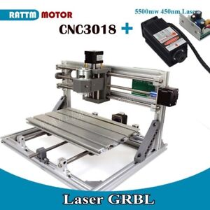 3 Axis Mini 3018 Grbl Control Cnc Router Engraver Milling Machine 5500mw Laser