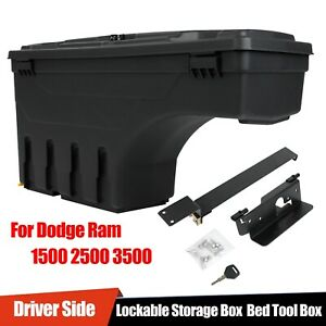 For Dodge Ram 1500 2500 3500 Lockable Storage Box Truck Bed Tool Box Driver Side