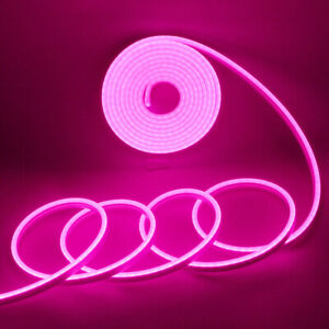 Pink 5m 2835 600smd Waterproof Led Strip Neon Light Flexible Tube Outdoor 12v