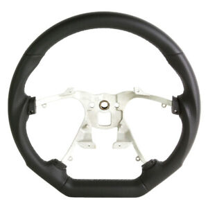 07 08 09 10 11 12 13 Gmc Sierra Yukon Steering Wheel Black Leather W gray Stitch