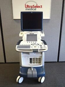 Ge Logiq E9 Ultrasound System With 3 Probes Included excellent Scanner