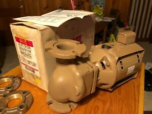 Teel 1 6 Hp In line Circulator Pump Bronze 2 Flanges Included 115v 60hz 1 Phase