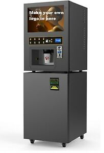Coin note Operated Automatic Drink Dispenser Vending Cappuccino Machine gts204