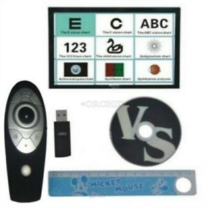 Chart Projector Eyesight Vision Visual Tester Software With Remote Control Bg