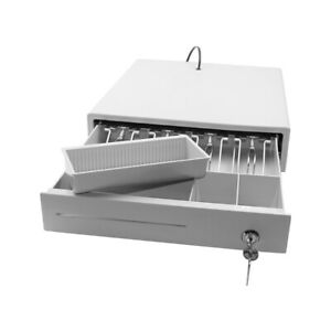 Cash Register Drawer 4 Bill 3 Gear Money Box Compatible With Pos Printer M4j6