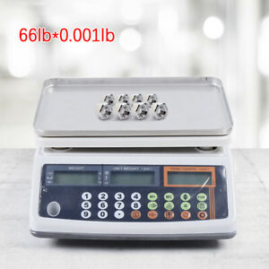 Digital Weight Scale Price Computing Retail Food Meat Scales Count Scale Device