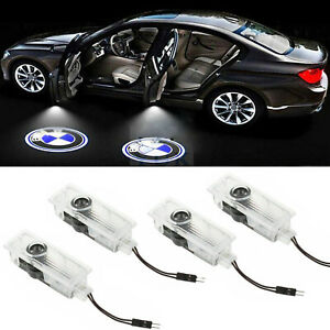 4 Car Door Courtesy Led Projector Ghost Shadow Light Welcome Lights For Bmw Logo