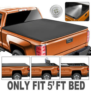 5ft Truck Bed Tri fold Soft Tonneau Cover For 2019 2020 Ford Ranger Brand New