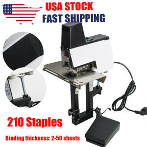 Great Auto Rapid Stapler Binder Electric Flat Saddle 110 220v Foot Pedal New