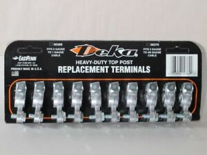 10pc Card Of Deka Heavy Duty Top Battery Terminal Ends Fast Free Shipping