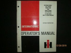 International Harvester 183 Vibra Tine Snank Cultivator Operator s Set Up Manual