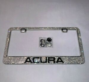 Acura Bling Bling Diamond Frame Custom Rhinestone Metal License Plate Frame