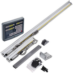 10 38 Ttl Linear Scale 2axis Digital Readout Dro Display Kit Milling Lathe Us