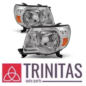 For 05 06 07 08 09 10 11 Set Tacoma Headlights Headlamps Head Lights Lamps 05 11