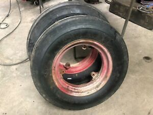 Farmall H Front 3 Loop Rims With Brand New Tires 6 00x16 Otani T22 6 Ply Tires