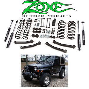 Zone Offroad 4 Inch Full Suspension Lift Kit 1997 2002 Jeep Wrangler Tj 4wd