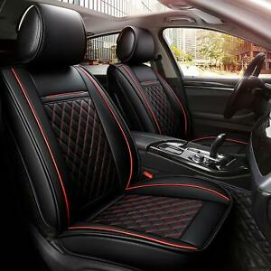 Luxury Car Seat Cover 5 Seats Pu Leather Suv Cushion Front Rear Set Universal