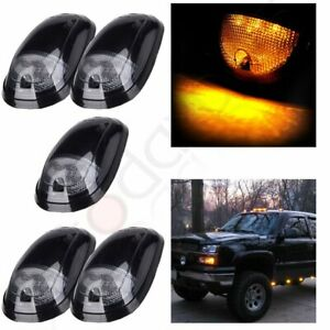 5x Smoke Amber Led Cab Marker Light For Dodge Ram 2500 3500 03 18 264146bk