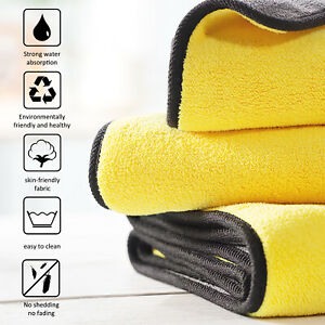 Microfiber Cleaning Cloth Towel Soft Rag Dry Car Polishing No Scratch Detailing