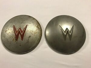Vintage Willys Jeep Hubcaps Wheel Covers Pair Of Two