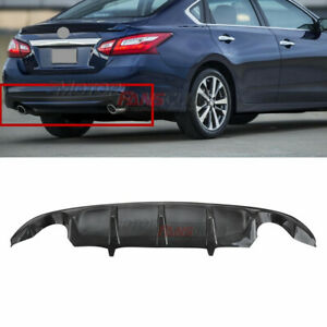 Carbon Fiber Look Rear Under Diffuser Lip Bumper For Nissan Altima 2016 2018