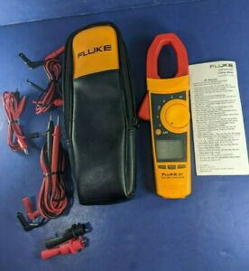 Fluke 337 Trms Clamp Meter Excellent Screen Protector Soft Case