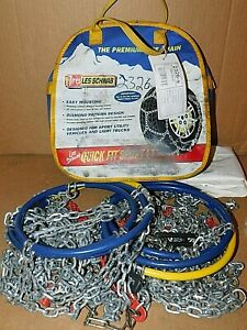 Les Schwab Quick Fit Sport Lt Tire Snow Chains Stock 2326 s Never Used
