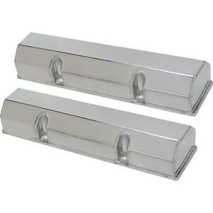 Speedway Sbc Chevy 350 No hole Fabricated Aluminum Valve Covers 305 327 400