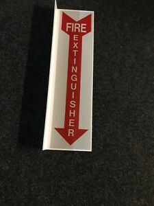 96 Signs 4 5 x16 5 Rigid Plastic 90 Angle fire Extinguisher Arrow Sign New