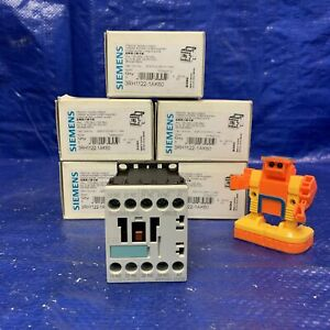 Siemens 3rh1122 1ak60 Contactor lot Of 5 Contacts