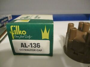 New Ignition Distributor Cap Filko Al 136 6 Cylinder Mopar Amc