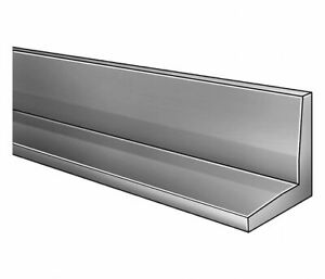 6063 Aluminum 90 Degree Angle Stock 1 8 Thick 1 Leg Length 4 Ft Long Piece