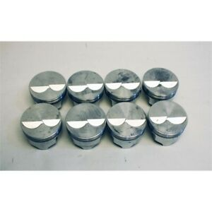 Garage Sale Icon Chevy 350 Forged Pistons Flat Top 5 7 Rod 040 Over