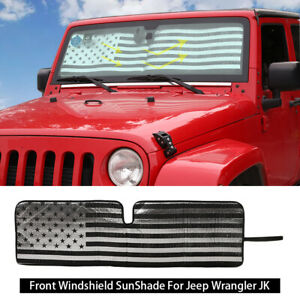 Windshield Sunshade Sun Shade Heat Shield Sun Visor For Jeep Wrangler Tj Jk Jku